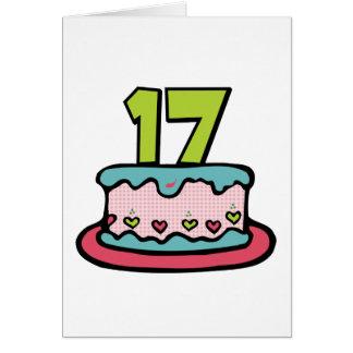 Torta de cumpleaños de 17 años tarjeta de felicitación