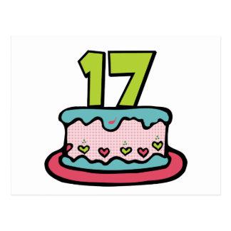 Torta de cumpleaños de 17 años postales