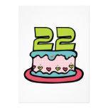 Torta de cumpleaños de 22 años comunicado personal