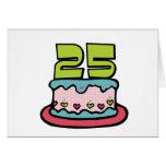 Torta de cumpleaños de 25 años felicitación