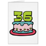Torta de cumpleaños de 36 años felicitación