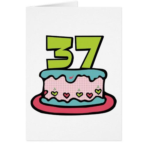 Torta de cumpleaños de 37 años felicitacion