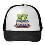 Torta de cumpleaños de 37 años gorras
