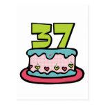 Torta de cumpleaños de 37 años postal