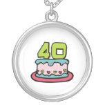 Torta de cumpleaños de 40 años colgantes personalizados