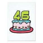 Torta de cumpleaños de 46 años comunicado