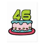 Torta de cumpleaños de 46 años postal