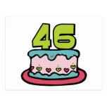 Torta de cumpleaños de 46 años tarjeta postal