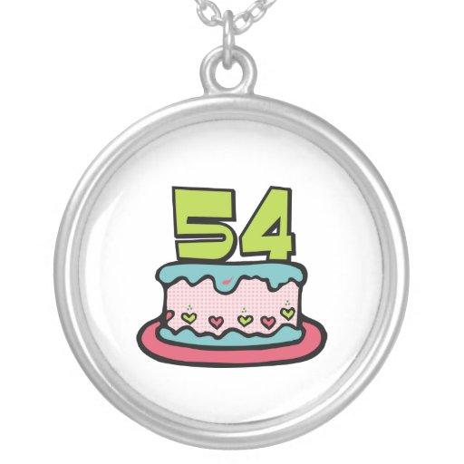 Torta de cumpleaños de 54 años colgante redondo
