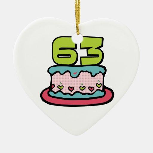 Torta de cumpleaños de 63 años adorno de navidad