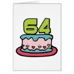 Torta de cumpleaños de 64 años felicitaciones
