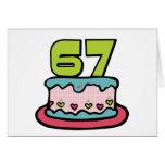 Torta de cumpleaños de 67 años felicitaciones
