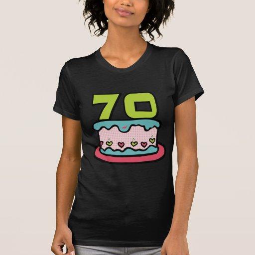 Torta de cumpleaños de 70 años camiseta