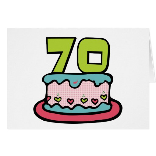 Torta de cumpleaños de 70 años felicitación