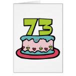 Torta de cumpleaños de 73 años felicitación