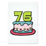 Torta de cumpleaños de 76 años invitacion personalizada