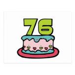 Torta de cumpleaños de 76 años postales