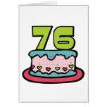 Torta de cumpleaños de 76 años tarjetas