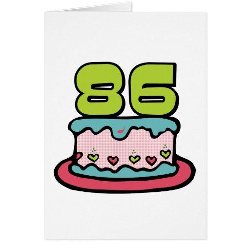 Torta de cumpleaños de 86 años felicitación