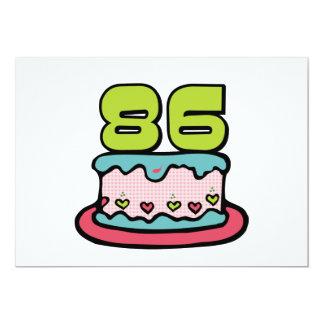 """Torta de cumpleaños de 86 años invitación 5"""" x 7"""""""