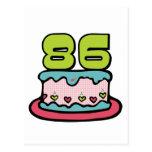 Torta de cumpleaños de 86 años postal