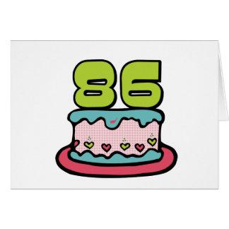 Torta de cumpleaños de 86 años tarjeta de felicitación