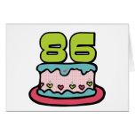 Torta de cumpleaños de 86 años tarjetón