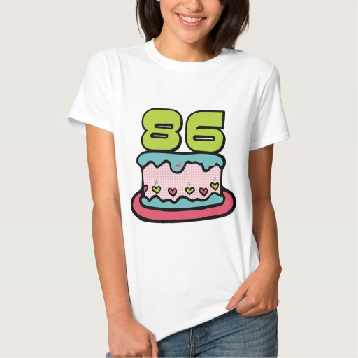Torta de cumpleaños de 86 años tee shirt