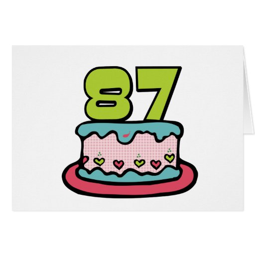 Torta de cumpleaños de 87 años felicitaciones