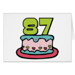 Torta de cumpleaños de 87 años tarjetas