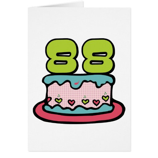 Torta de cumpleaños de 88 años felicitación