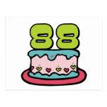 Torta de cumpleaños de 88 años tarjeta postal