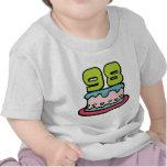 Torta de cumpleaños de 98 años camisetas
