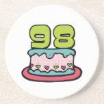 Torta de cumpleaños de 98 años posavaso para bebida