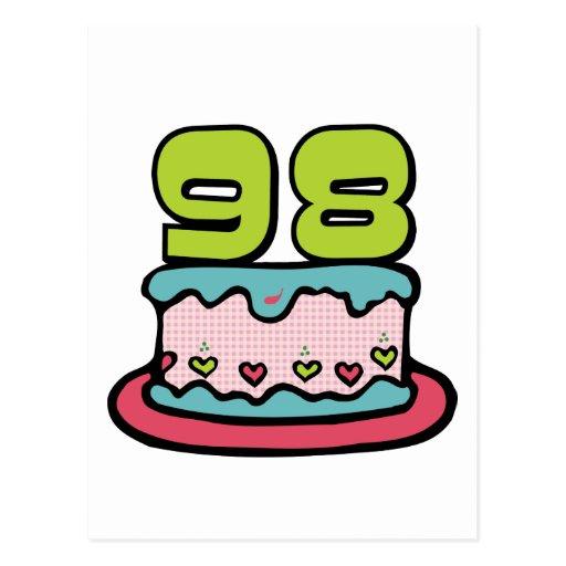Torta de cumpleaños de 98 años postales