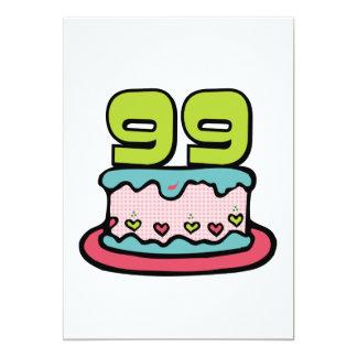 Torta de cumpleaños de 99 años comunicado personalizado