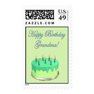 Torta de cumpleaños de la abuela de la abuela del sellos