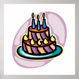 Torta de cumpleaños de lujo póster