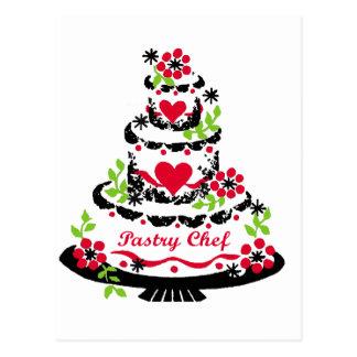 Torta de cumpleaños del chef de repostería postal