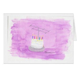 Torta de cumpleaños del equipo de radio-aficionado tarjeton