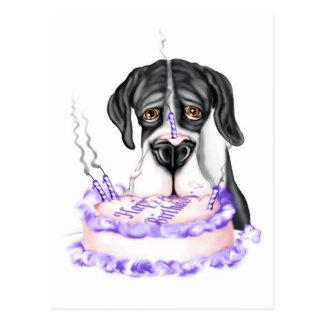 Torta de cumpleaños del UC de la capa de great Tarjeta Postal
