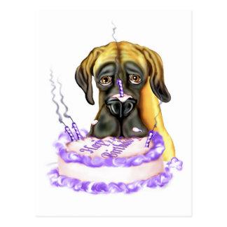 Torta de cumpleaños del UC del cervatillo de great Postales