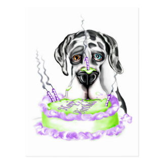 Torta de cumpleaños del UC del Harlequin de great Postales