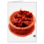Torta de cumpleaños del zombi felicitacion