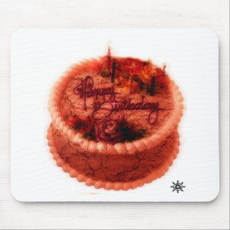 Torta de cumpleaños del zombi mouse pads