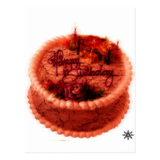 Torta de cumpleaños del zombi postal