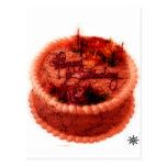 Torta de cumpleaños del zombi tarjeta postal