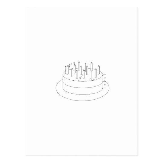 Torta de cumpleaños - estilo arquitectónico postales