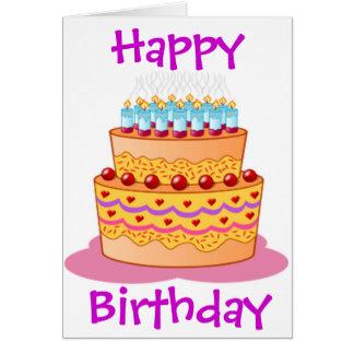 Torta de cumpleaños grande felicitaciones