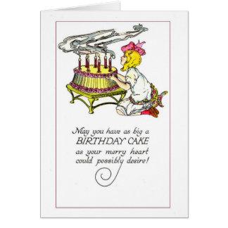 Torta de cumpleaños grande - tarjeta